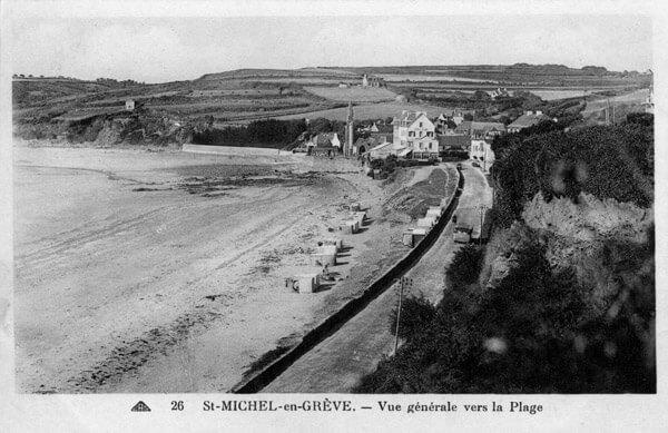 Vue générale vers la plage