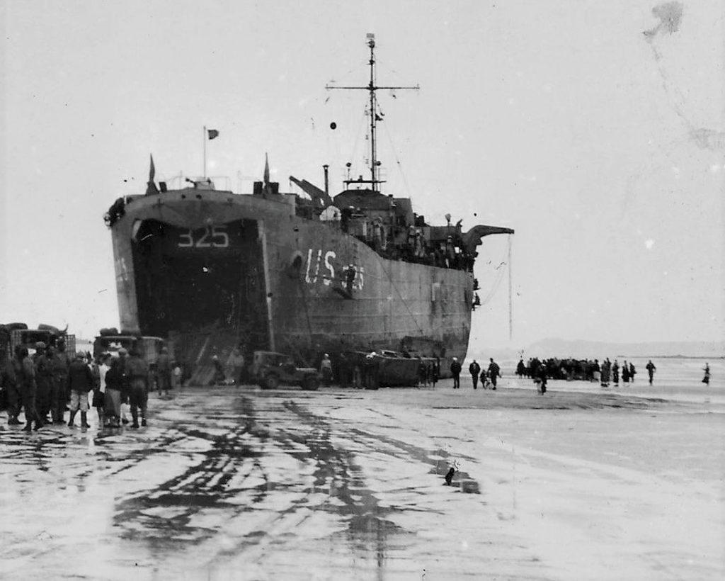 75ème anniversaire du débarquement sur la lieu de grève