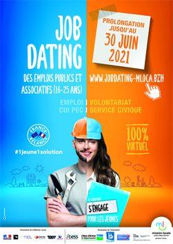 JOBDATING Emplois publics et associatifs / Prolongation jusqu'au 30 JUIN 2021